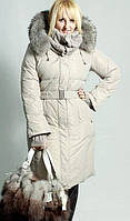 Куртка с мехом на планочке, с довязом