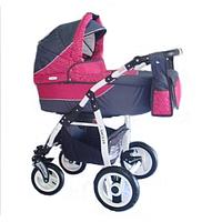Универсальная коляска 2 в 1 Adbor Siesta 20 (graphite - pink)
