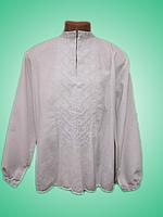 Чоловіча вишита сорочка з білосніжним узором (Мужская вышитая рубашка с белоснежным узором) SN-0002