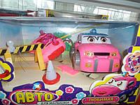 Машина с пультом для девочки розовая