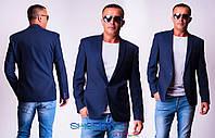 Мужской пиджак Стиль темно-синий