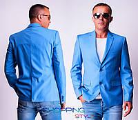 Мужской пиджак Море, голубой цвет