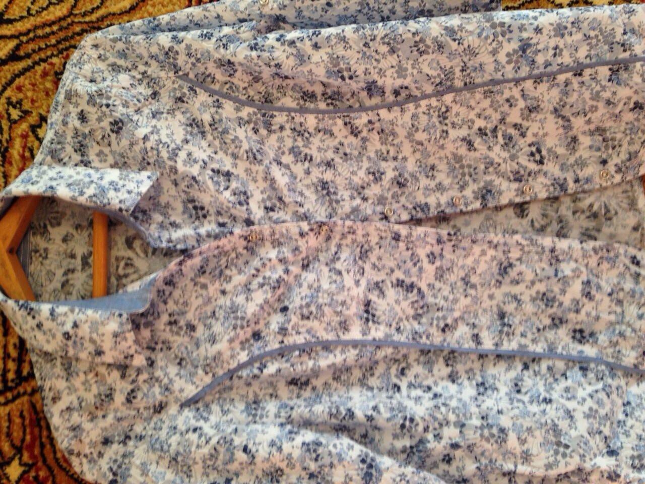 Блуза блузка  рубашка женская х/б