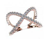 Стильное золотое кольцо 585* из последней коллекции