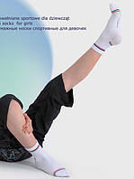 Носочки хлопчатобумажные спортивные для девочек 109 002G
