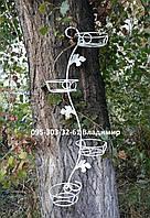 """Подставка для цветов """"Змея"""" на 4 чаши (вертикальная)"""