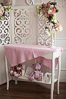 Покрывало детское розовое