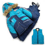 Зимний костюм комбинезон + куртка на овчине для мальчика