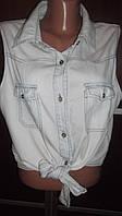 Легкая джинсовая блуза! Размер М-L.