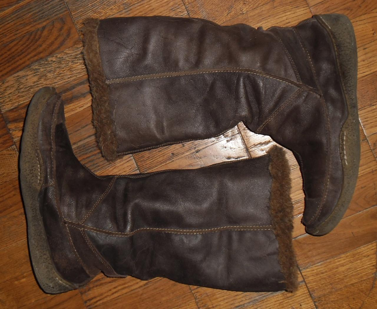 Сапоги 41 размер Кожа, зимние