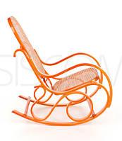 Кресло качалка светлое сетка Rafia