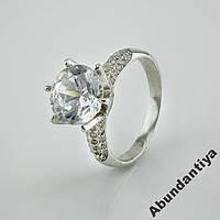 Серебряное кольцо с цирконом (3702)