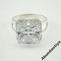 Серебряное кольцо с цирконием, 925 пробы (3685)