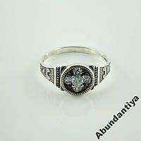 Серебряное кольцо Спаси и сохрани,925 пробы (3585)