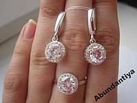 НАБОР (серьги+кольцо), серебро 925 пробы