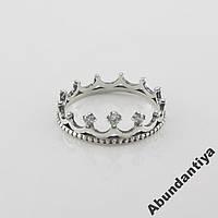 Серебряное кольцо с цирконием Корона (3732)