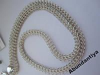 Цепочка серебряная ПИТОН, 50 см (1007.1)