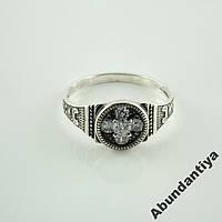 Серебряное кольцо Спаси и сохрани (3585)
