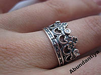 Серебряное кольцо Корона (3593)