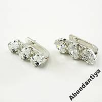 АКЦИЯ! Серебряные серьги с цирконием (4673)