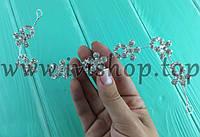 Веночек диадема со стразами с цветами (свадебная диадема)