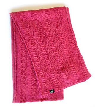 Безупречный итальянский женский шарф 25х180 ARMANI 285299-4A392 WOMAN'S KNIT SCARF 8056047153713 малиновый