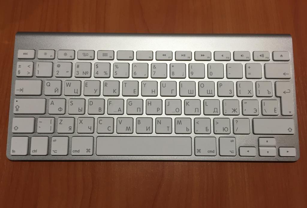 Беспроводная клавиатура Apple русская раскладка
