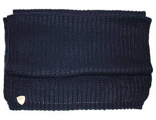Стильный женский шарф 160х50 от ARMANI (285347-5A396) WOMAN'S KNIT SCARF BLU NAVY 8058345264757 синий