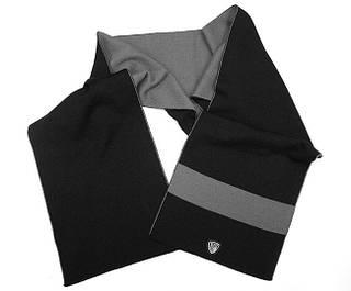 Двусторониий мужской шарф 170 см. ARMANI 275325-2A393 NERO 8034148258896 черный/серый