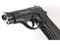 Пневматический пистолет KWC 301 М84: неподвижный затвор, ствол 145 мм, калибр 4,5 мм, баллон СО2 12г