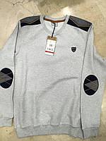 Однотонная мужская кофта с круглой горловиной
