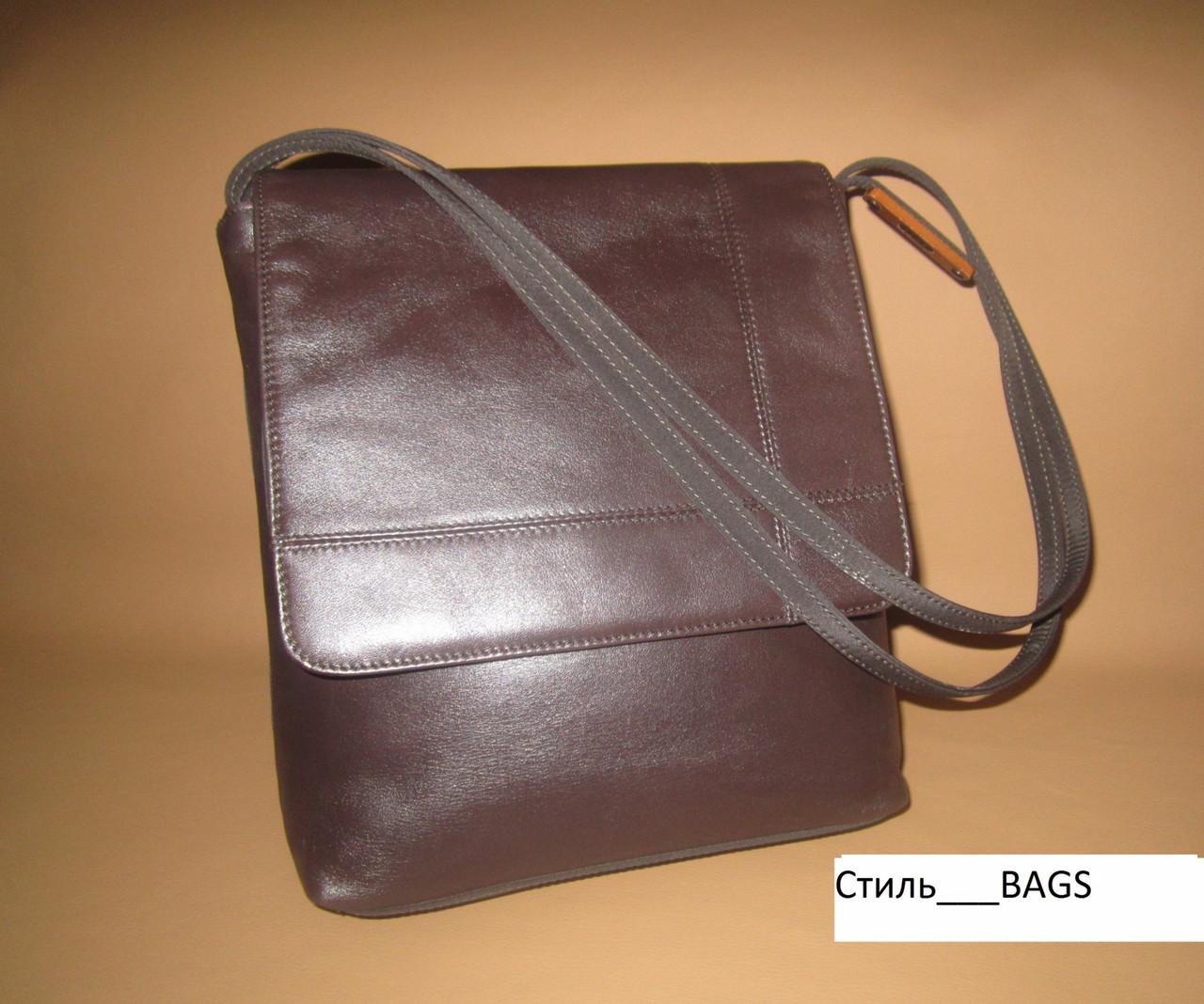 Стильная сумка нат. кожа и текстиль ELLE Франция