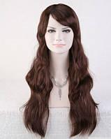 Парик длинный волос каштан наличие качество