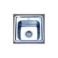 Мойка кухонная Platinum врезная из нержавейки, полированная 38х38