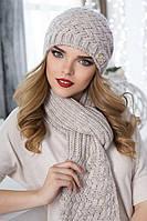 Комплект Диадема шапка и шарф На Выбор