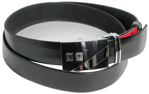 Брючный мужской кожаный ремень Skipper 5586-1 чёрный ДхШ: 134х3,5 см.