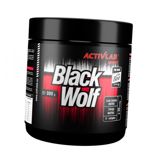 Предтреник Black Wolf (300 г) Скидка 30 %