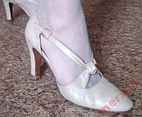Кожаные Бежевые Итальянские туфли 38-39 р