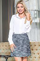 Классическая женская блуза. Цвет белый.