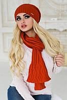 Комплект Ясмин шапка и шарф в ассортименте
