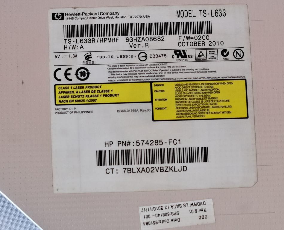 Оптический привод ноутбука HP  TS-L633