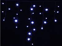 Новогодняя гирлянда DELUX ICICLE 90LED 2x0.5 синяя/черный кабель, внешняя