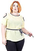 Блуза большого размера Париж (4цв), шифоновая блузка большого размера, для полных, дропшиппинг