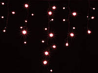 Новогодняя гирлянда DELUX ICICLE 90LED 2x0.5 красная/белый кабель, внешняя
