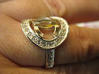Кольцо в стиле Chanel из серебра 925 с золотом 375 р.19