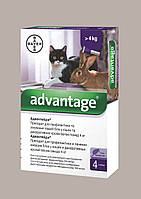 Капли от блох Адвантейдж 80 (Аdvantage) для котов от 4 кг