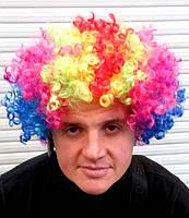 Парик клоуна разноцветный  большой