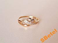 Золотое кольцо с камнями, золото 585 пробы 15 разм