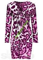 Шикарное леопардовое платье цвета фуксии!