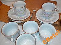 Новый чешский фарфоровый чайный сервиз Epiag на 6